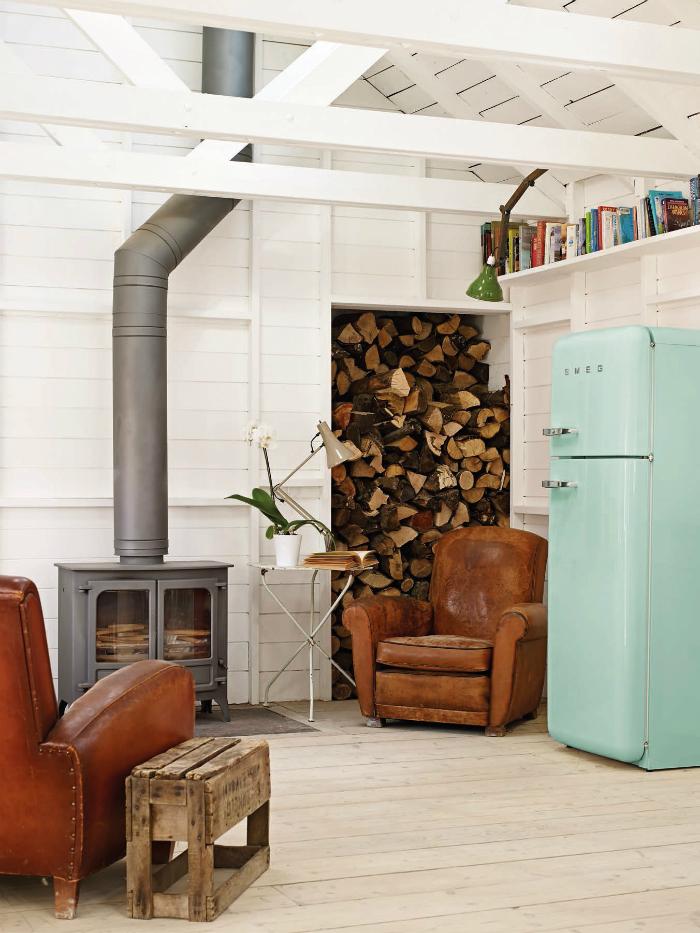 Smeg Retro Refrigerator Blue