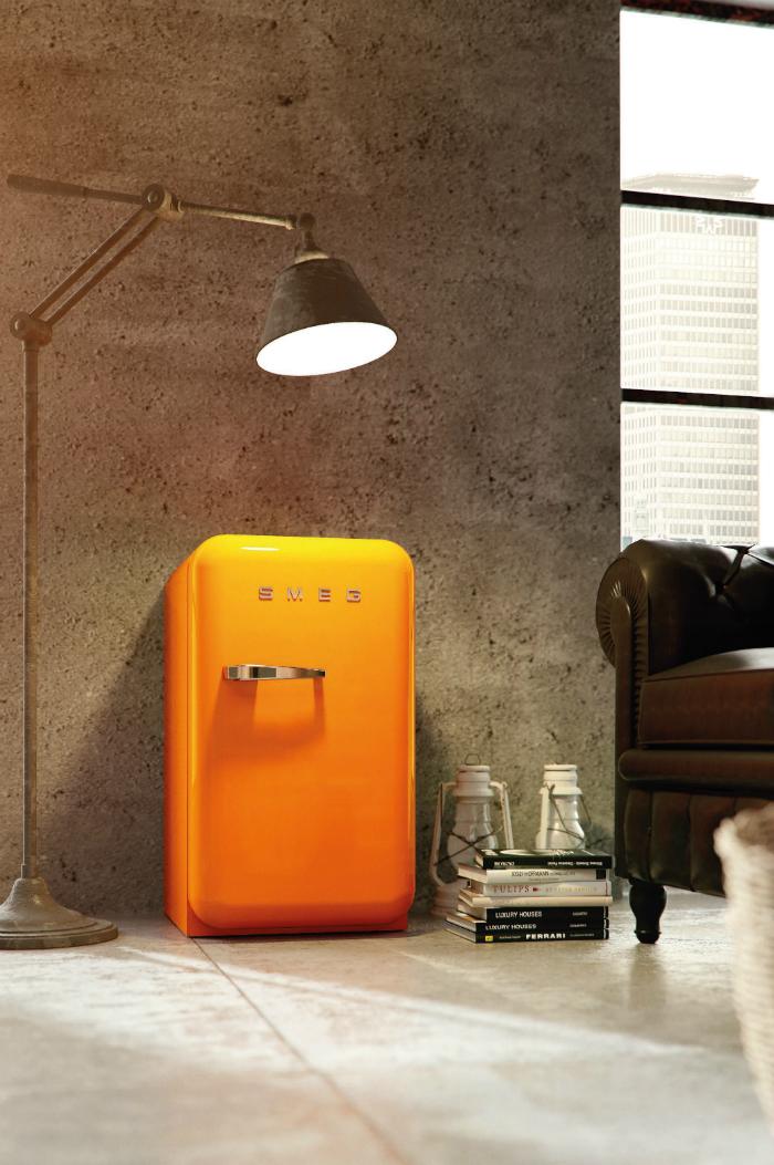 Smeg Retro Refrigerator Orange