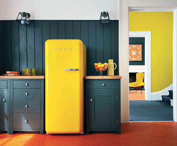 Smeg Retro Yellow Refrigerator