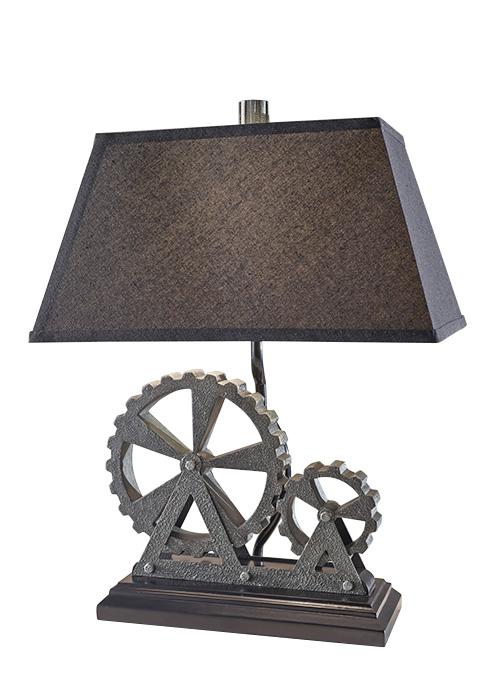 Lampa cu abajur textil