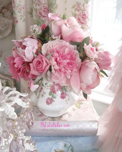 Pink Flowers Shabby Chic
