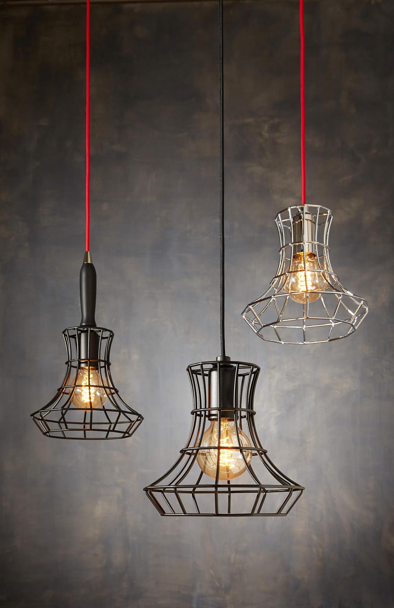 Light fixtures industrial style luminna - Suspension cage oiseau ...