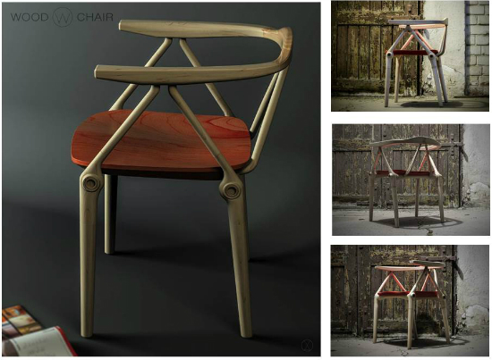 Wood Chair by Vald Oana 5