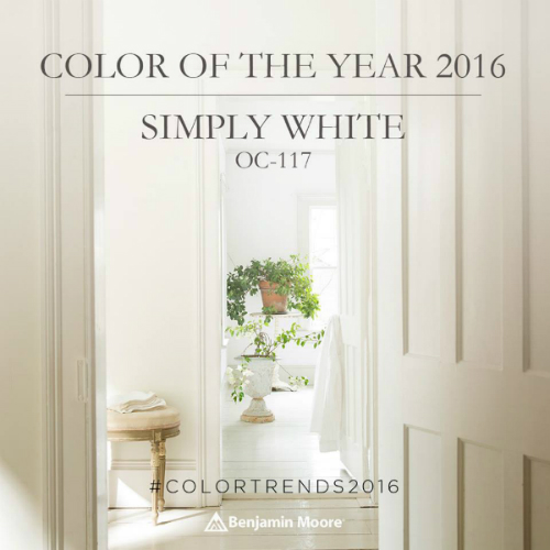 benjamin moore color of the year 2016 simply white. Black Bedroom Furniture Sets. Home Design Ideas