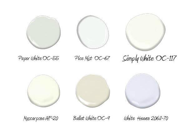 Palette white hues Benjanim Moore 2