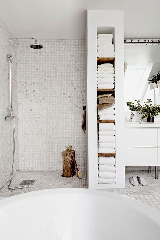 Scandinavian white bathroom