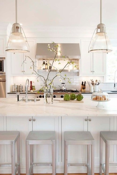Classic Industrial White Kitchen