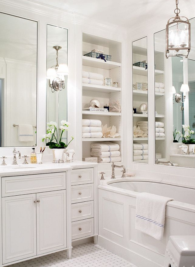 Classic contemporary white bathroom