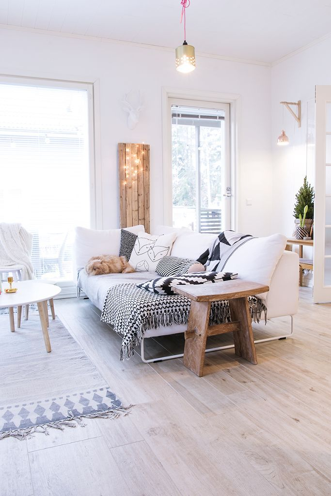 White nordic living room