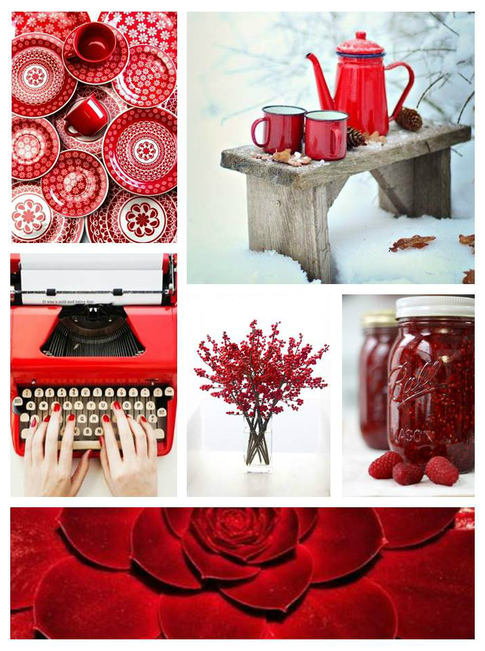 MoodBoard - Icy Red
