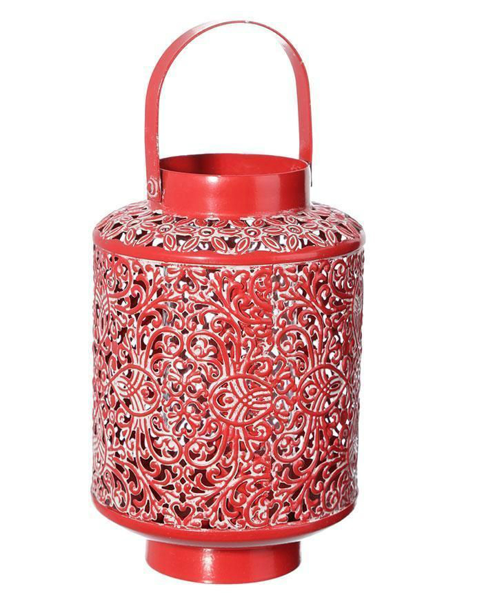 Home design red candle holder