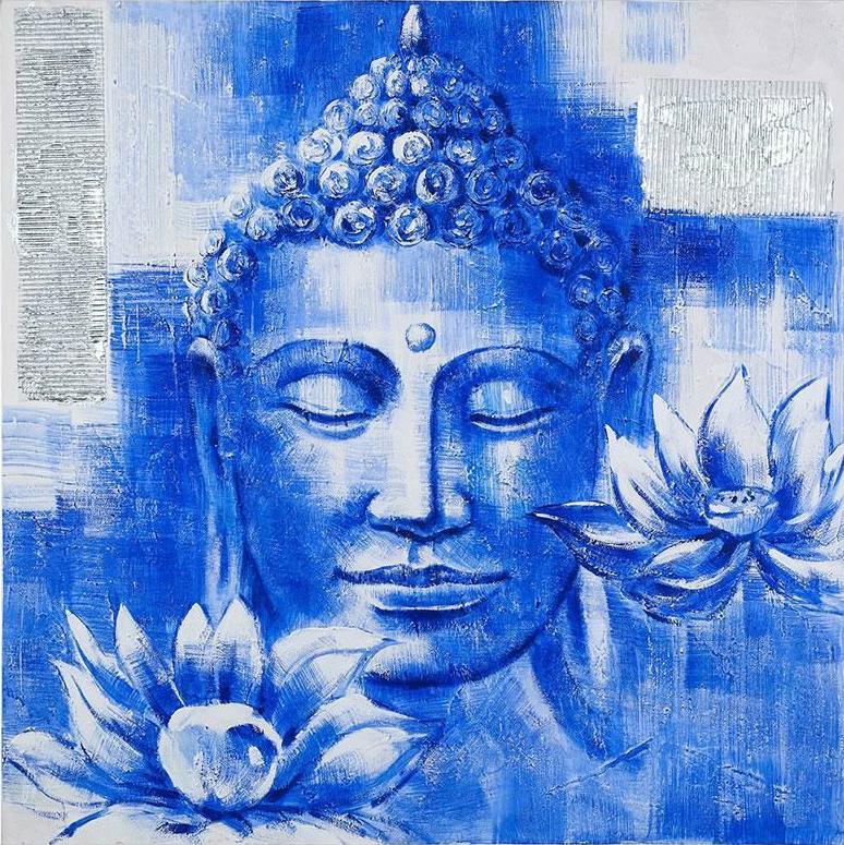 buddha painting blue