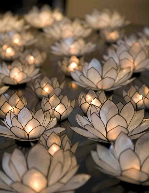Candle holder Lotus flower
