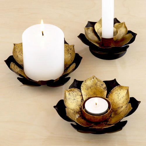 lotus flowers candle support