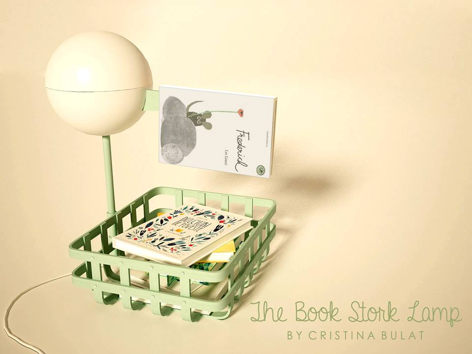 The Book Stork Lamp Cristina Bulat