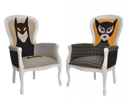 scaune batman catwoman