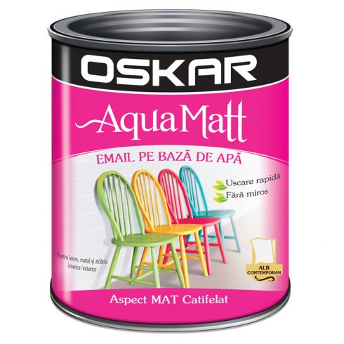 Vopsea acrilica alba Oskar Aqua Matt Catalog