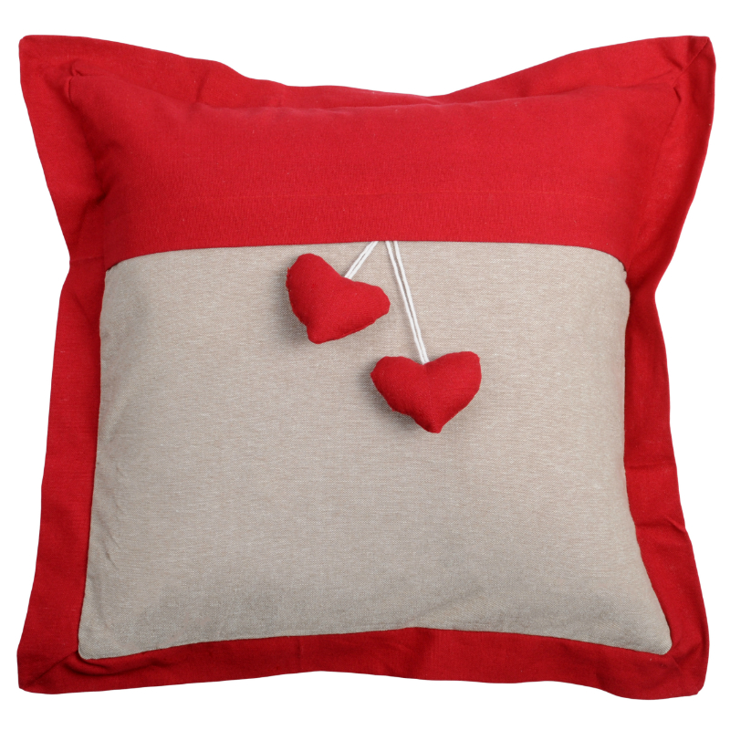Throw Pillow Website : Decorative pillow Joliesse Hearts ? Red