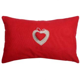 decorative pillow Joliesse red hart