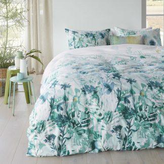 Lenjerie de pat cu flori verzi Madeira - Catalog