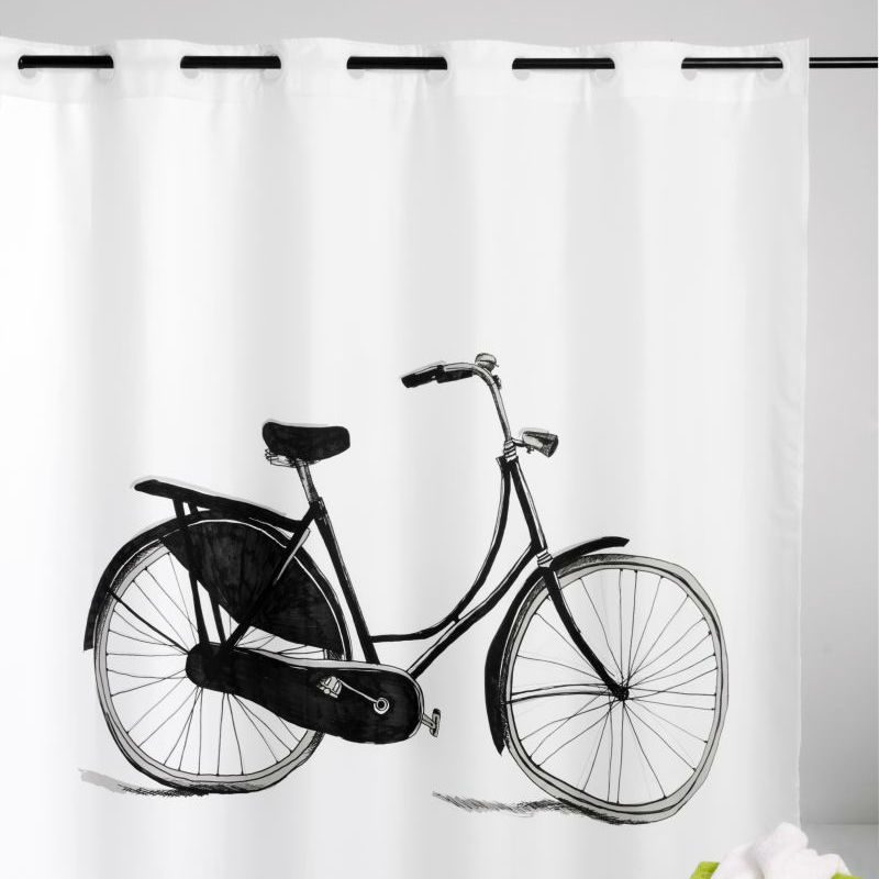 Perdea dus vintage bicicleta alb negru Catalog