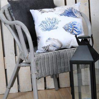 Perna decorativa Marin Buccin albastra