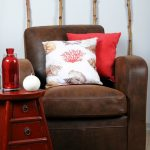 Decorative pillow Coastal Buccin Red