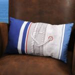 Decorative pillow Coastal Galhauban Ocean