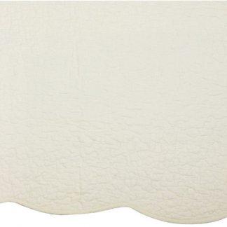 Cuvertura pat Castille alb vintage