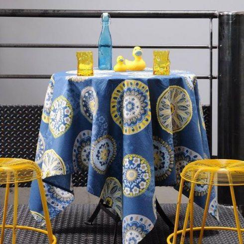tablecloth mandala sonora blue