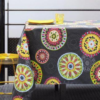 tablecloth mandala sonora anthracite