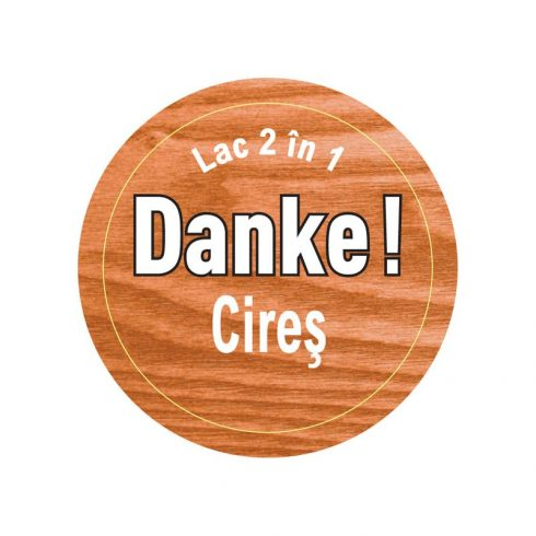 lac pentru lemn cires danke eticheta