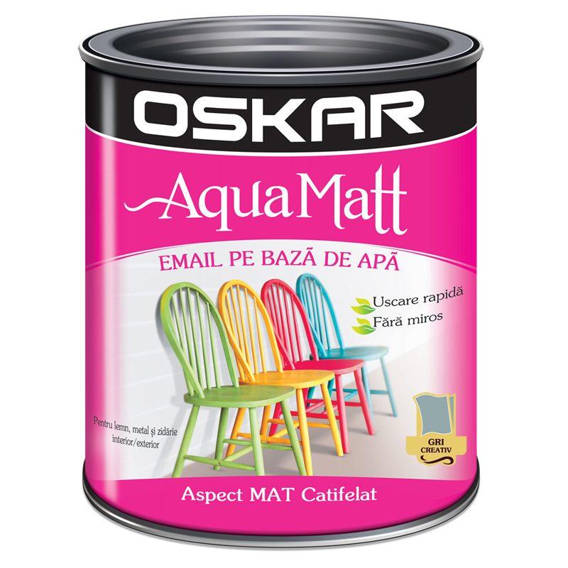 Vopsea acrilica gri Oskar Aqua Matt