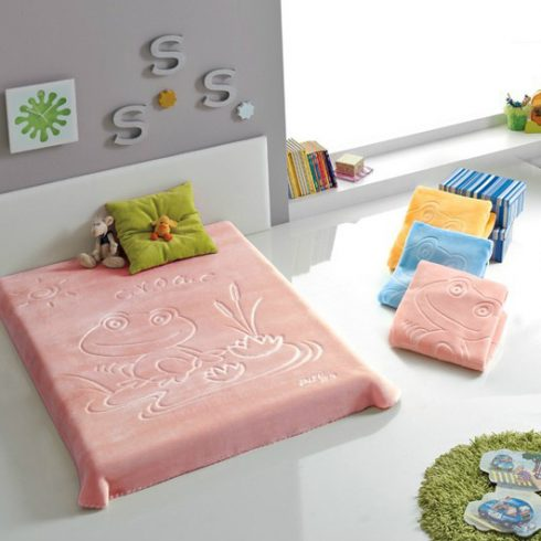 Patura copii moale Broscuta - Roz