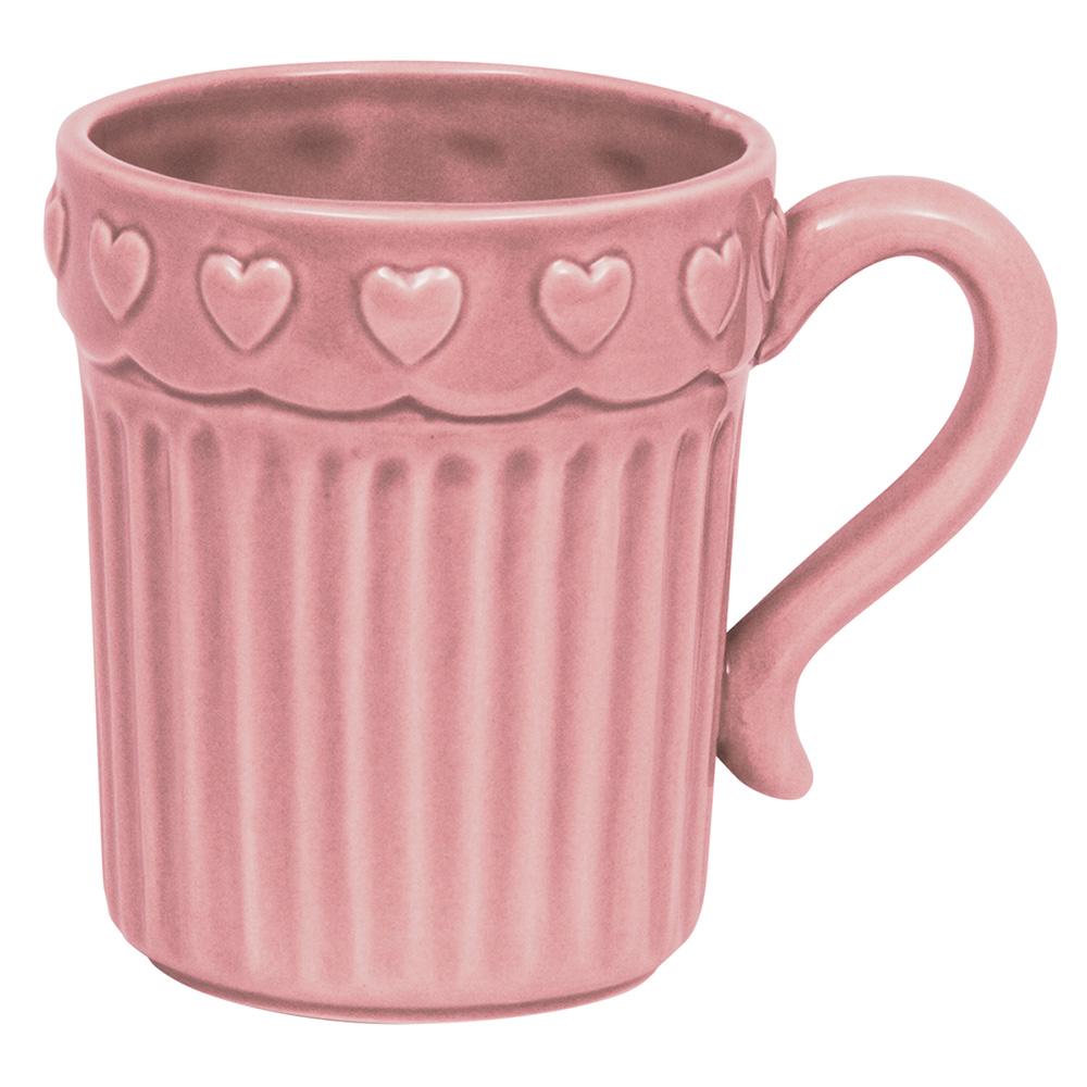 Cana cafea roz cu inimioare