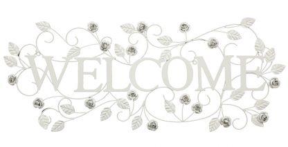 decoratiune perete Welcome trandafiri