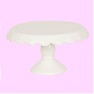 suport prajituri ceramica alb