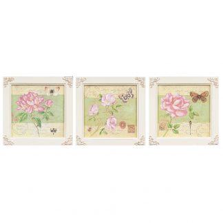 Set trei tablouri decorative Shabby Chic