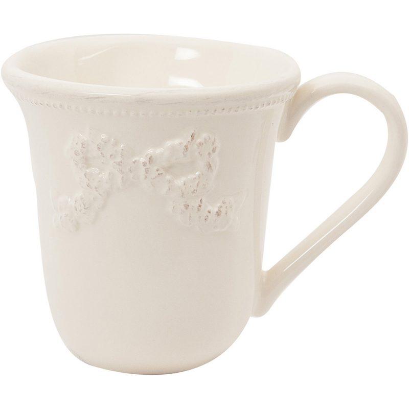 Antique white bow mug