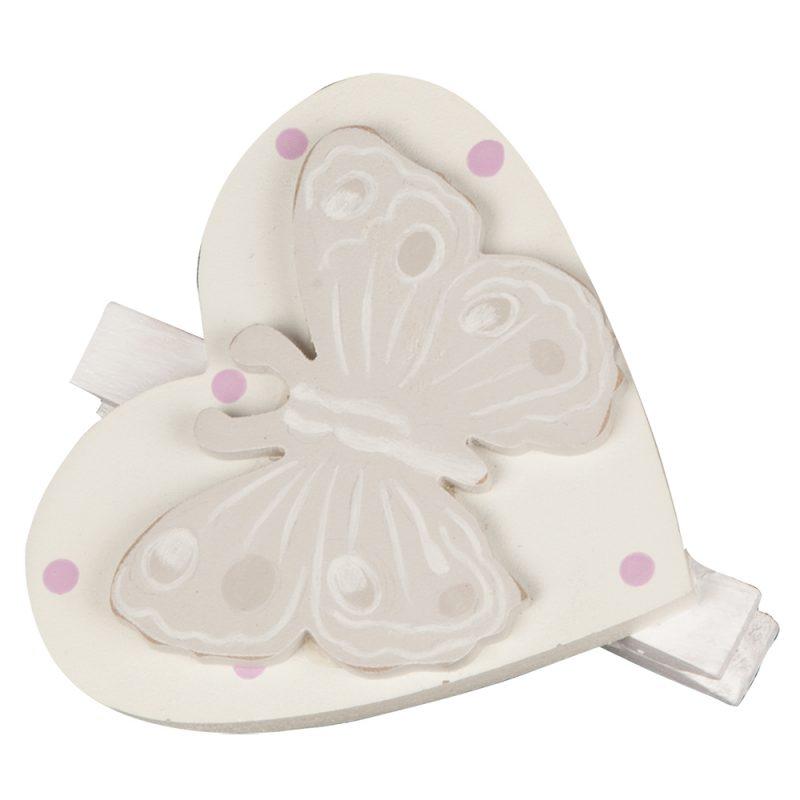 Decoratiune cu clips Inimioara cu Fluture