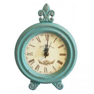 Ceas de masa turcoaz inchis Vintage