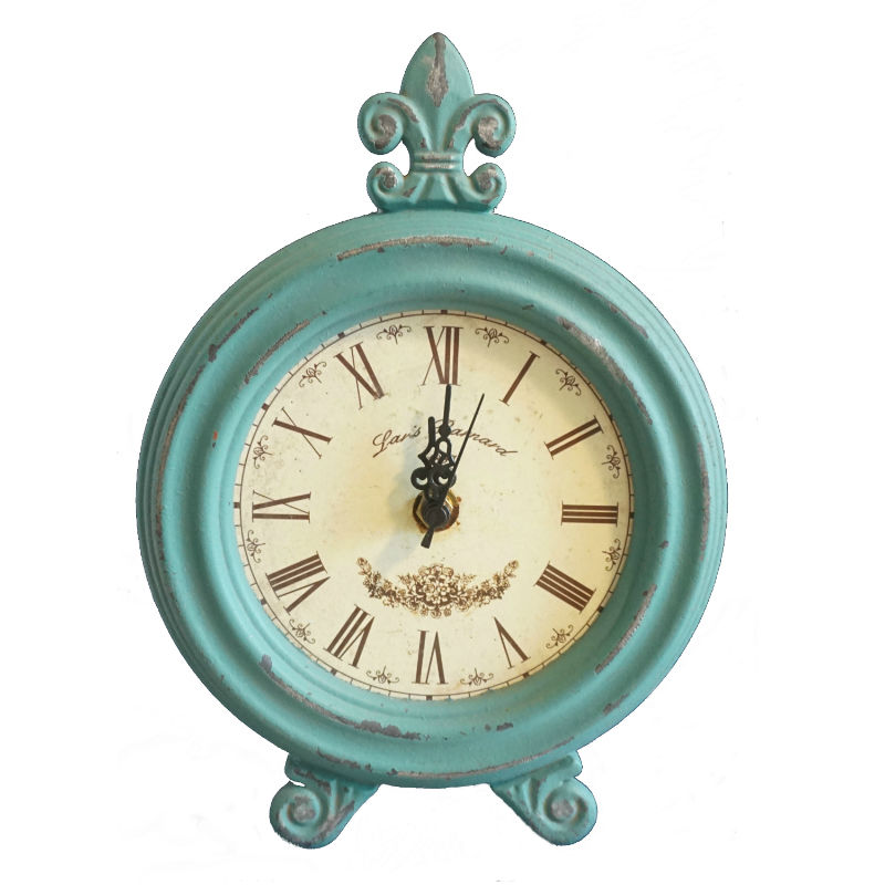 Vintage table clock – Dark Turquoise
