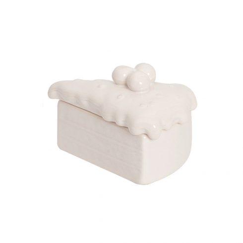 Cutiuta decorativa ceramica Felie tort in stil Shabby Chic pentru camera copii