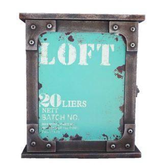Cuier chei Vintage Loft turcoaz