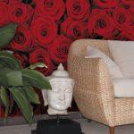 Fototapet Floral Explozie de trandafiri rosii