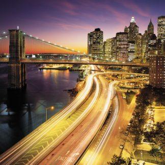 Fototapet Orase Noaptea - New York - Catalog