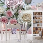 Fototapet Trandafiri - Buchet Pastelat Produs