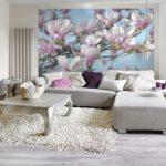 Fototapet Magnolii - Roz Delicat - Interior