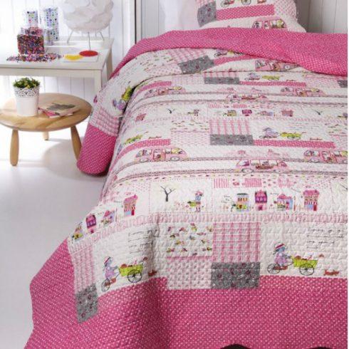 Cuvertura pat roz pentru fetite Princess
