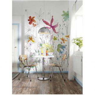 Fototapet Design - Bucurie in Acuarela Interior